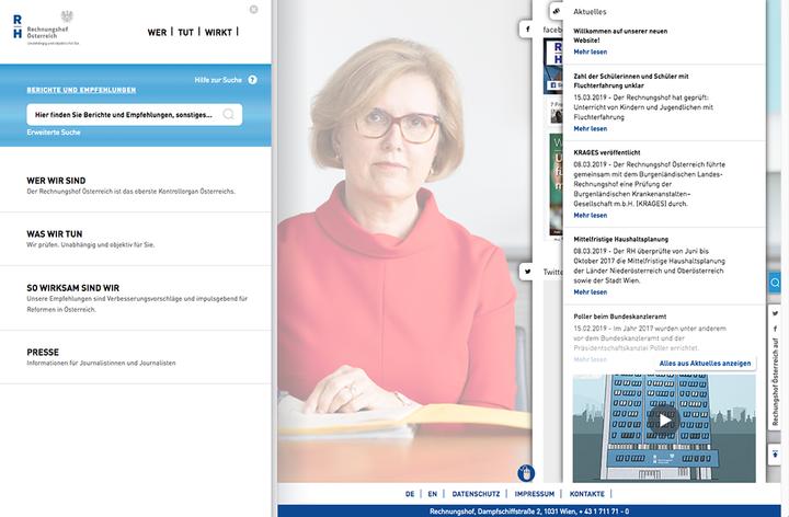 Rechnungshof Webseite - Copyright: