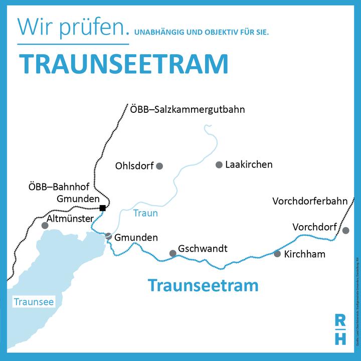 Verbindung der Traunseetram von Gmunden nach Gmunden vorchdorf - Copyright: RH