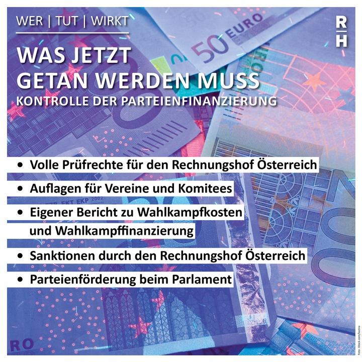Infobox zu den Reformvorschlägen des Rechnungshofes zur Parteienfinanzierung - Copyright: Foto: istock.com/kazina